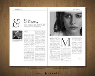 Maquete de design editorial