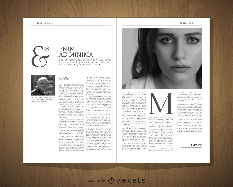 Plantilla de diseño editorial