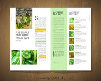 diseño de la plantilla editorial