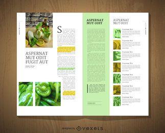 Diseño editorial de la plantilla