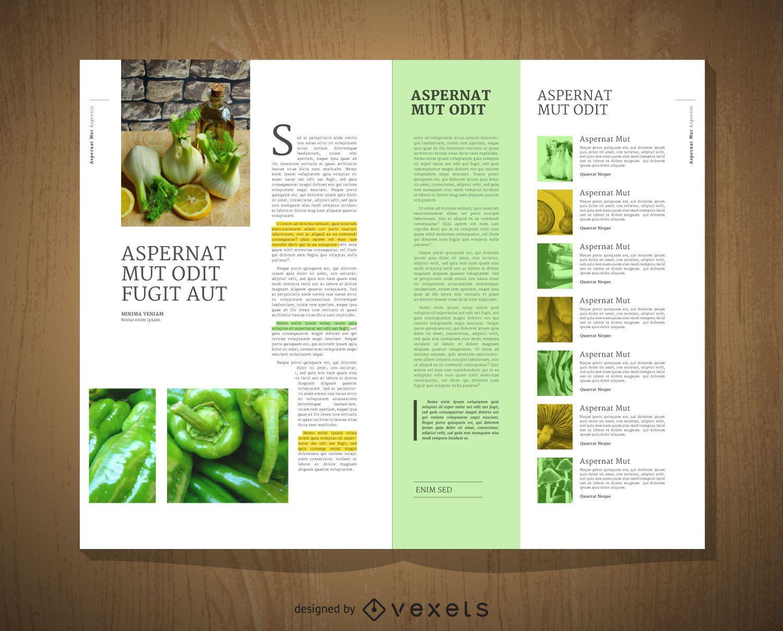 Diseño de plantilla editorial