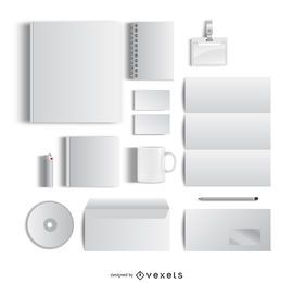 Blank office stationary mockup