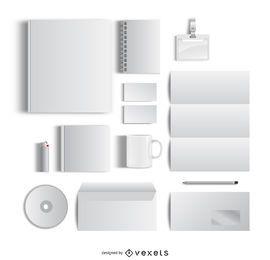 Leeres stationäres Büro-Modell
