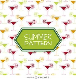 Summer cocktail drinks pattern