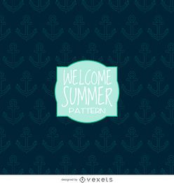 patrón de anclaje verano