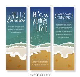 Banner de verão litoral