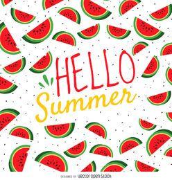 Cartel de sandía de verano.