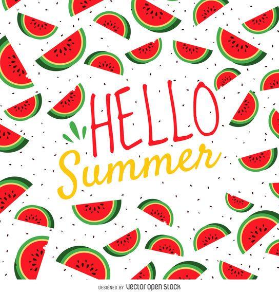 Cartaz de melancia de verão