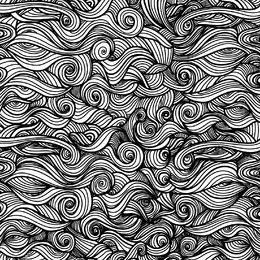 Curly swirls ornamental background