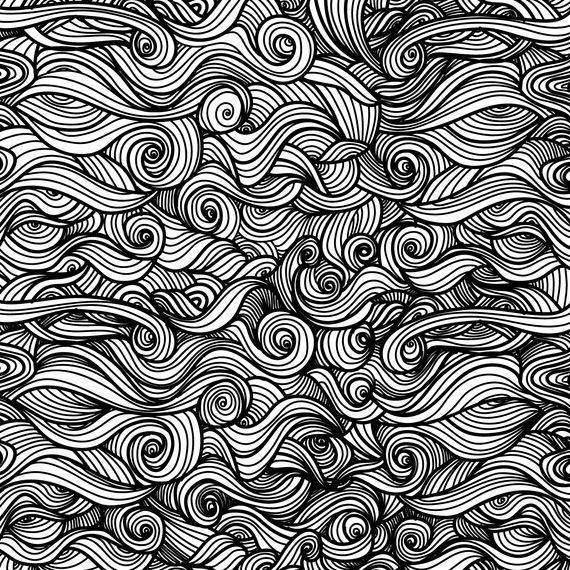 Curly swirls ornamental background
