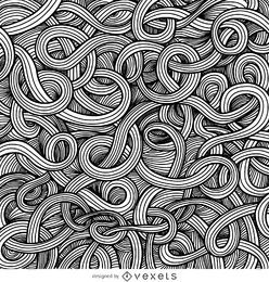 Ornamental curly swirls background