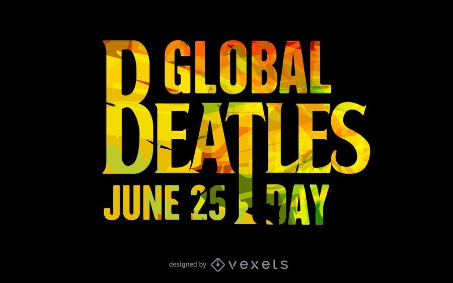 Cartel tipográfico del Día Mundial de los Beatles