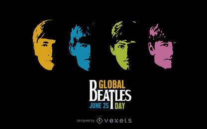 Cartaz global do dia dos Beatles