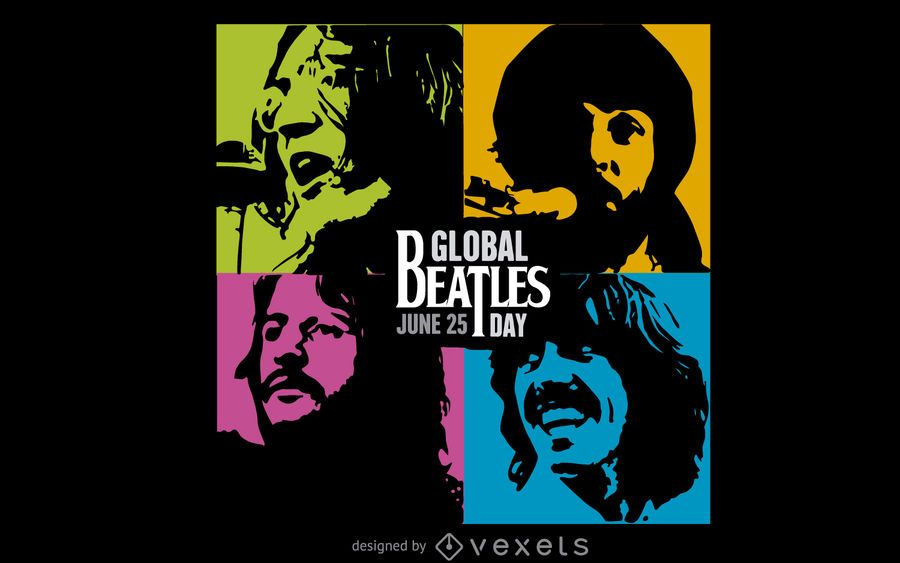 Colorful Global Beatles Day banner