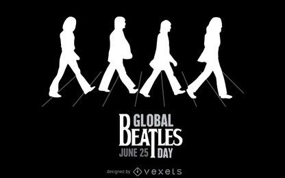 Beatles Abbey Road illustration