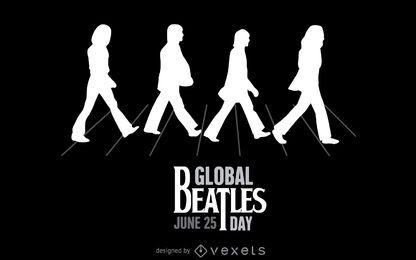 Ilustração Beatles Abbey Road