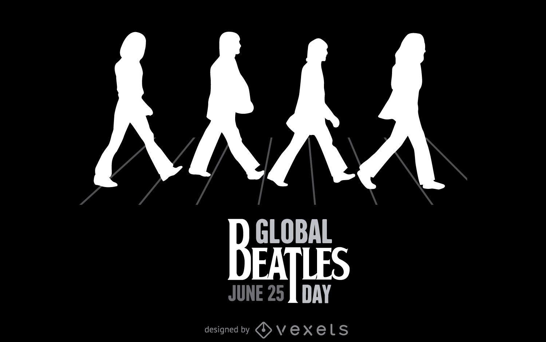 Ilustração de Beatles Abbey Road