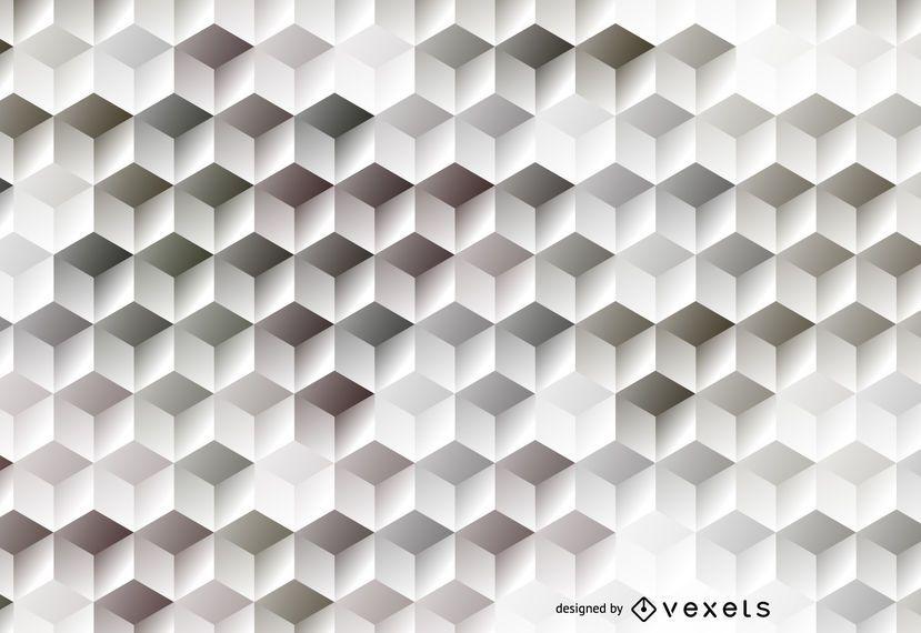 Fundo hexagonal preto e branco