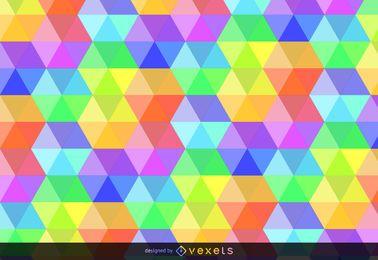 Fundo colorido hexagonal
