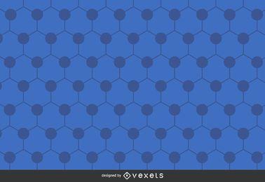 Fundo poligonal de hexágono azul
