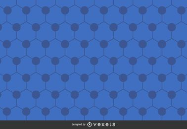 Hexagonal azul de fondo poligonal