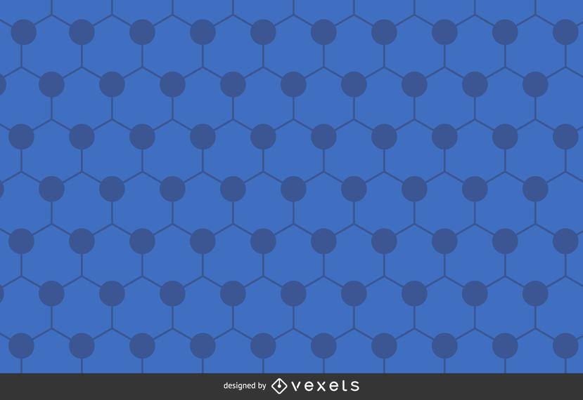 Polygonaler Hintergrund des blauen Hexagons