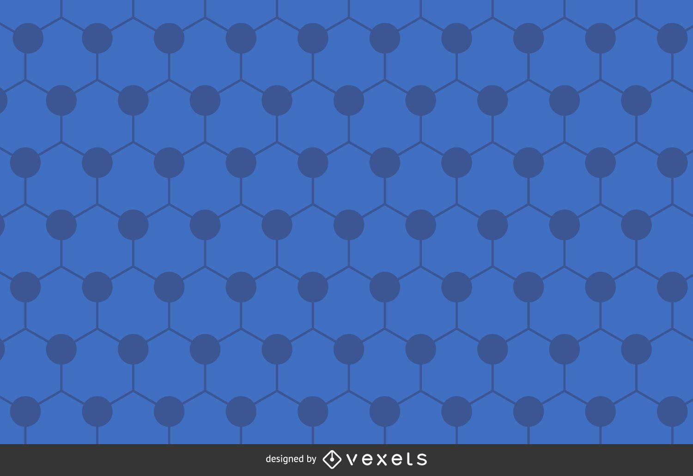 Fundo poligonal hexágono azul
