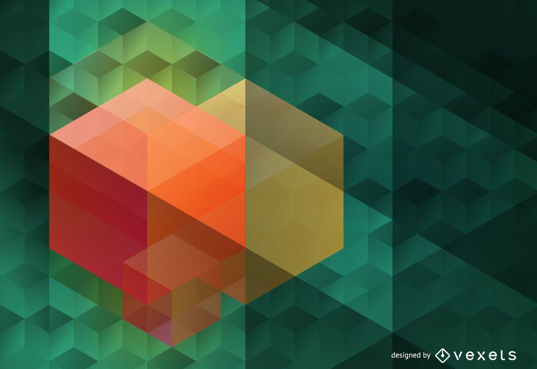Polygonal hexagon background