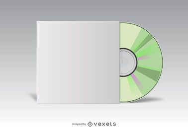 CD cover white mockup