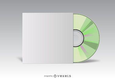 Cubierta de CD maqueta blanca