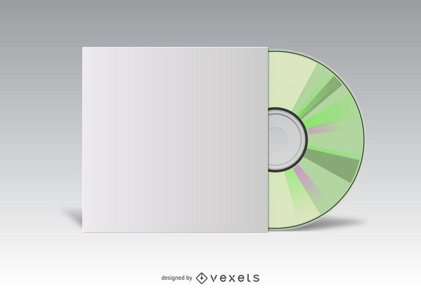CD cover white mockup