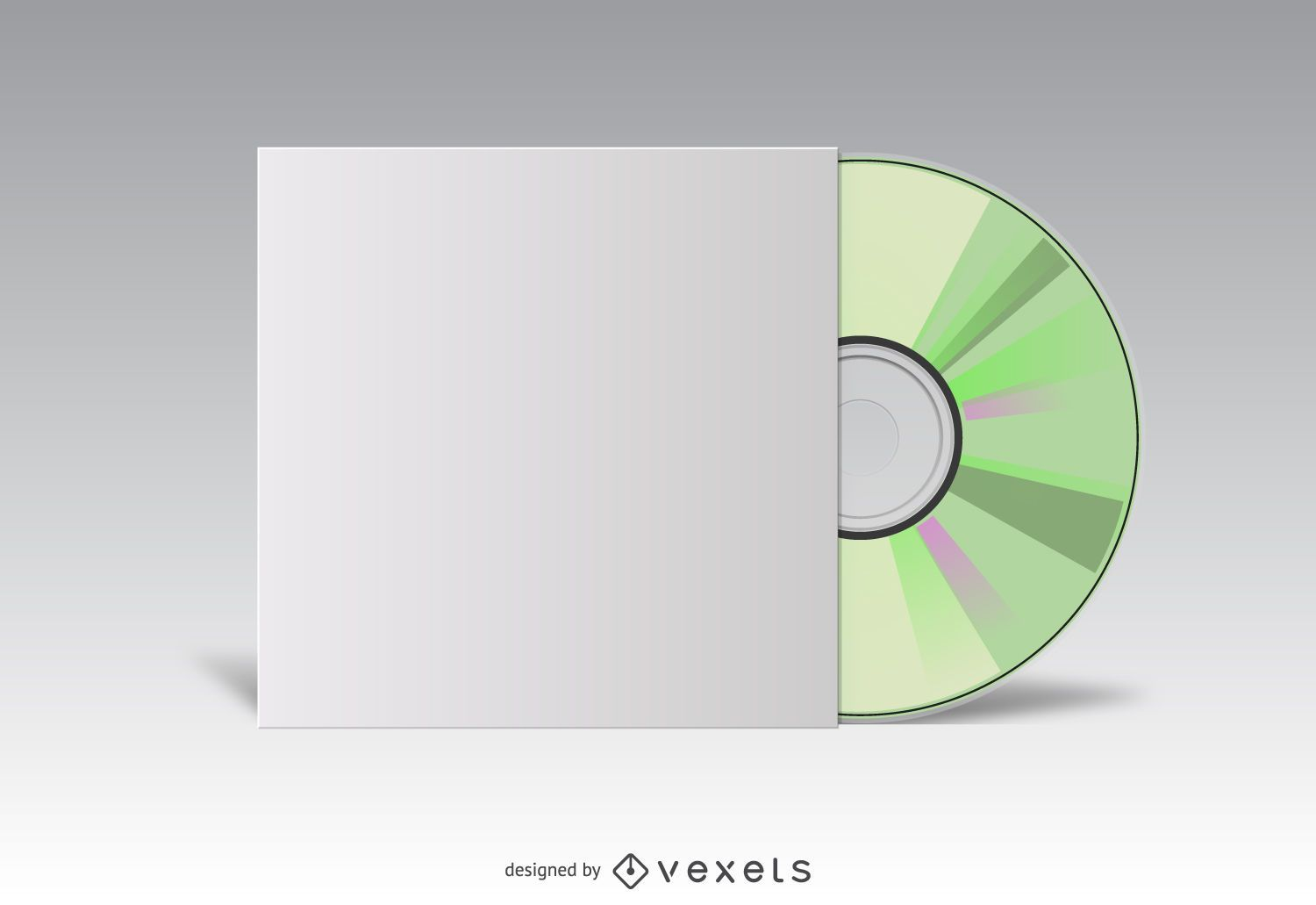 CD cover white mockup - Vector download