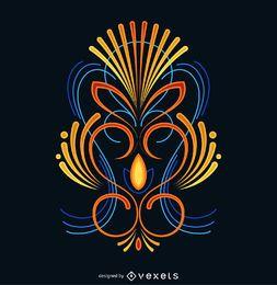 Diseño de rayas de colores