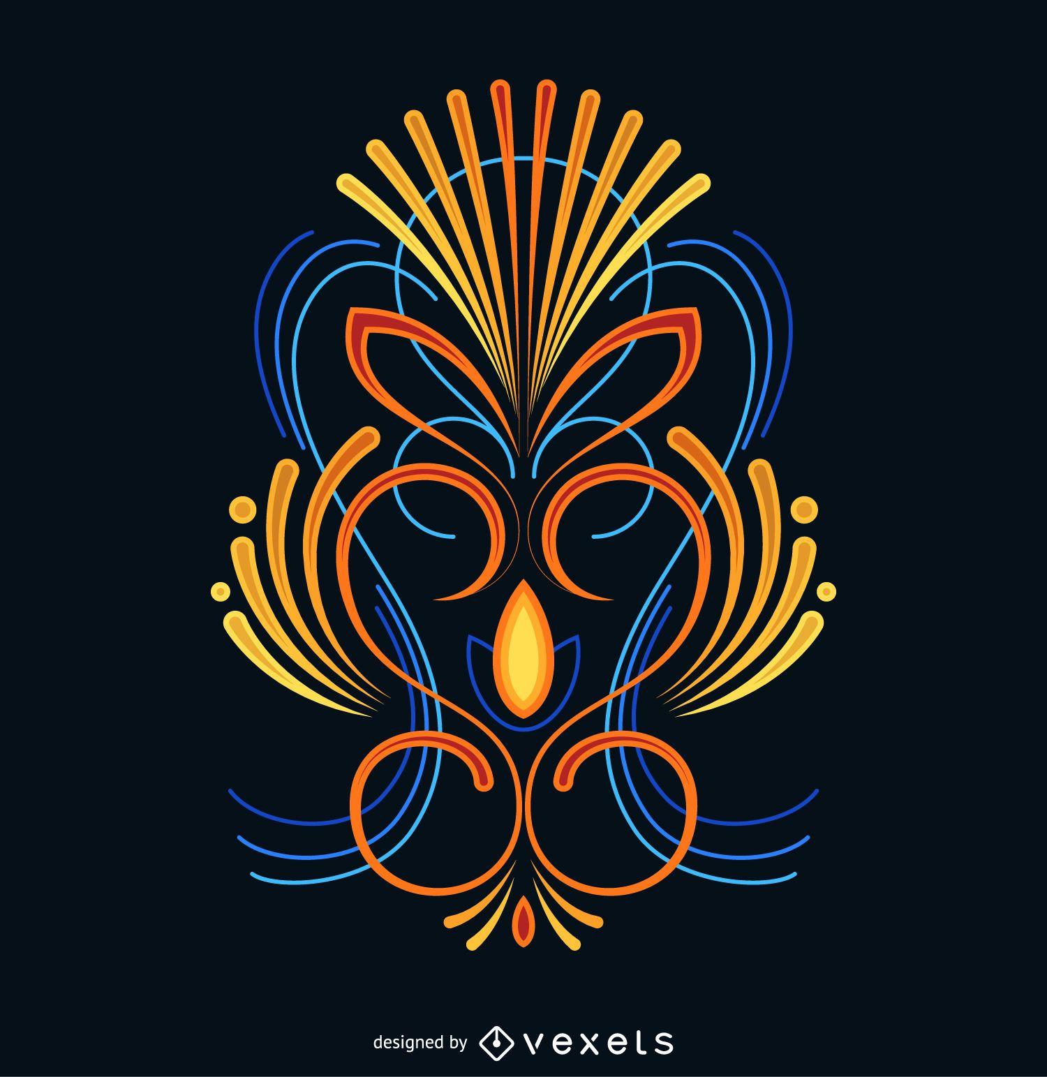 Design de listras coloridas
