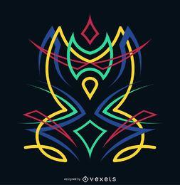 Stammes-Nadelstreifen-Zeichnung