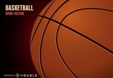 3D basketball ball illustration