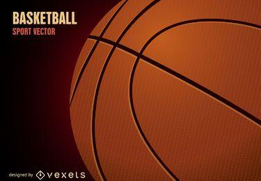Ilustração de bola de basquete 3D