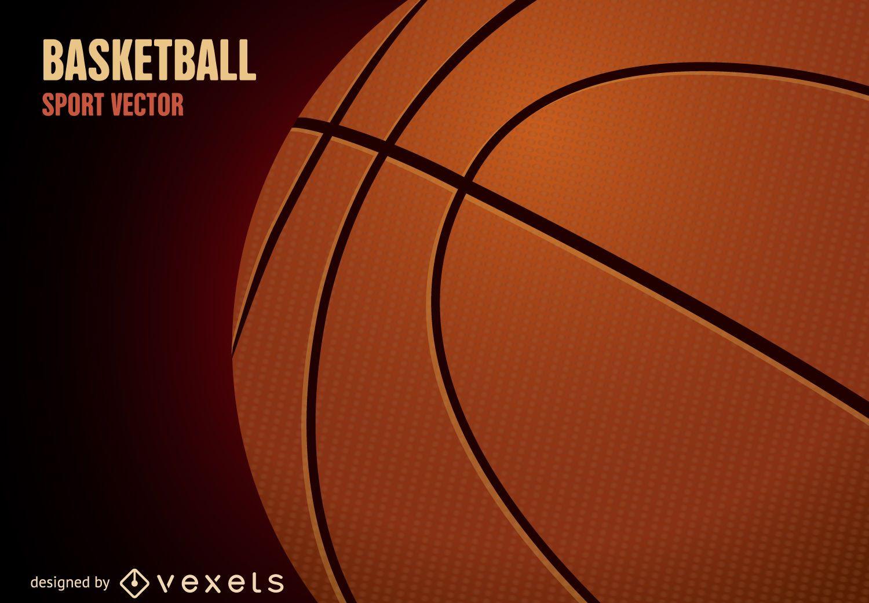 3D basketball ball illustration