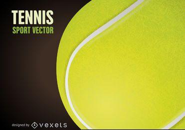 Pelota de tenis cartel de dibujo.