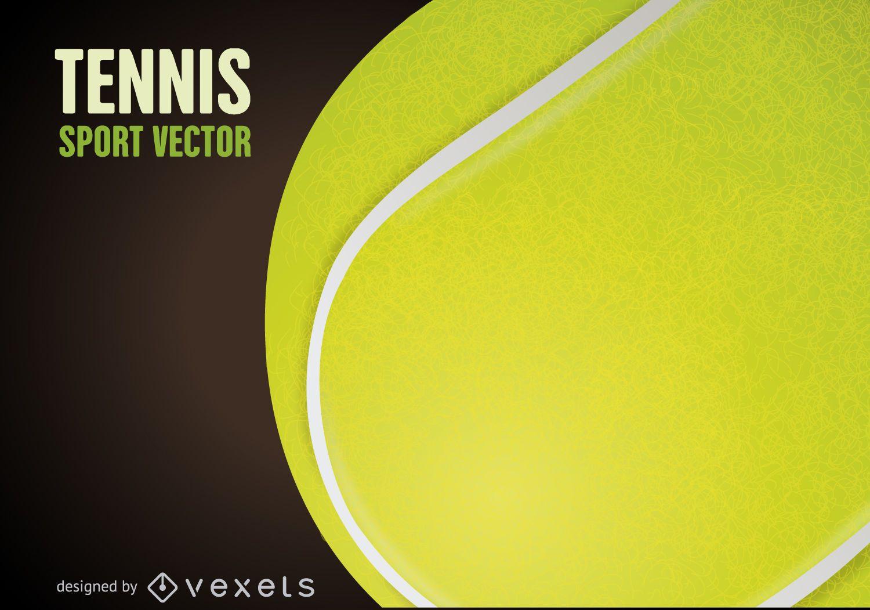 Póster dibujo de pelota de tenis