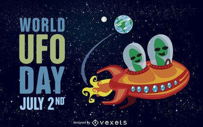 Ilustración del día Mundial OVNI