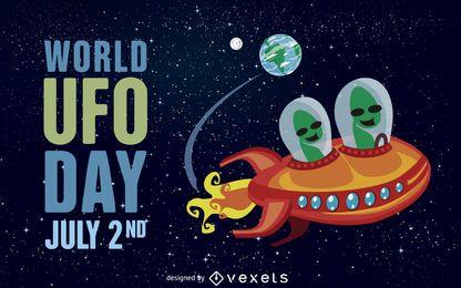 Ilustración del día mundial de los ovnis