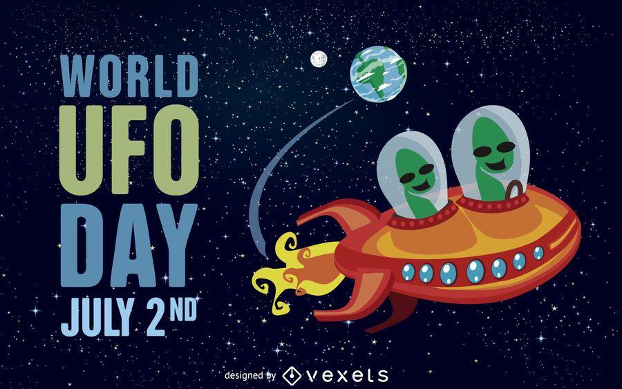 Ilustração do dia mundial do UFO