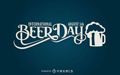 Diseño de letras del día de la cerveza.