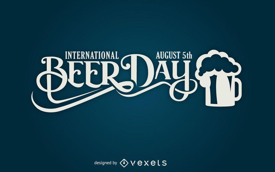 Beer Day lettering design