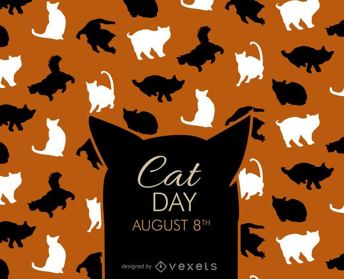 Halloween cat day silhouettes