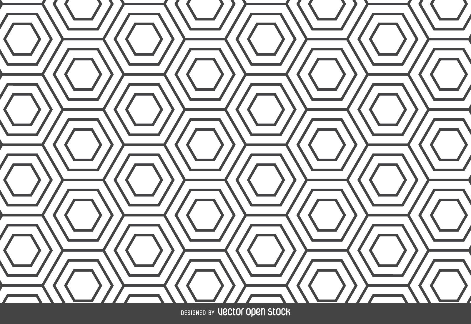 Hexagon linear pattern backdrop - Vector download