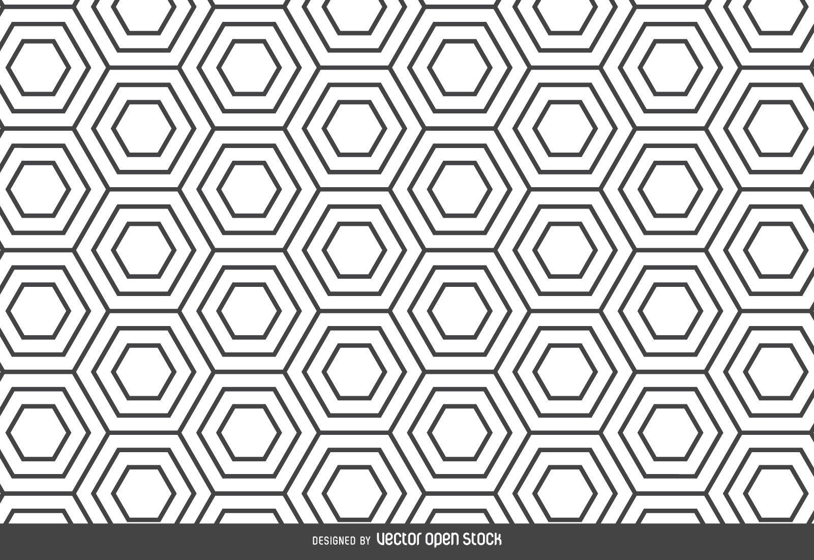 Telón de fondo de patrón lineal hexagonal