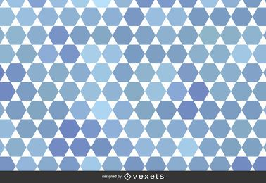 Abstract geometric pattern in tones of blue