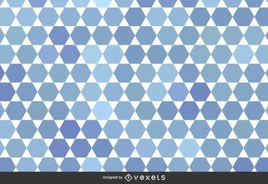 Patrón geométrico abstracto en tonos de azul.